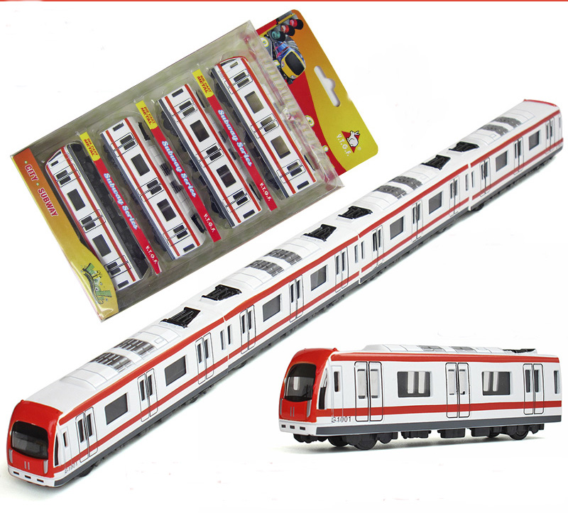 Simulation Miniature Subway 41cm Long Train Scale Metal Car Model Diecast Kids Pocket Toys Collection Best Gift(China (Mainland))