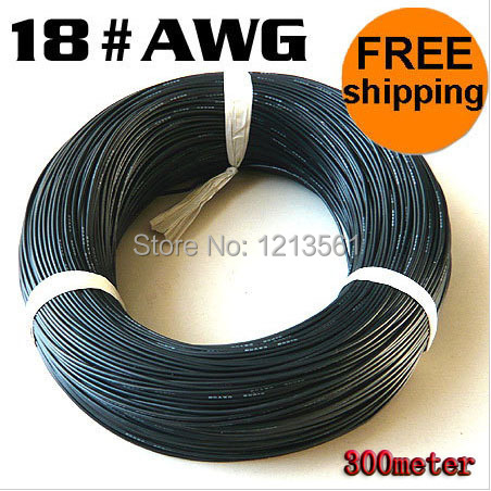 DHL Free shipping UL 3135 18AWG silicone wire 18# silica gel wire Conductor construction 150/0.08 18AWG high temperature wire(China (Mainland))