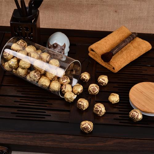 2014 Hot Sales 250g Glass Pot White Tea Compressed White Peony Tea White Silver Needle Baihaoyinzhen