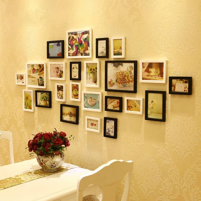 Porta retrato Creative Gift Home Decoration DIY Wood Photo Frame Wall Picture Album High Quality LA678442(China (Mainland))
