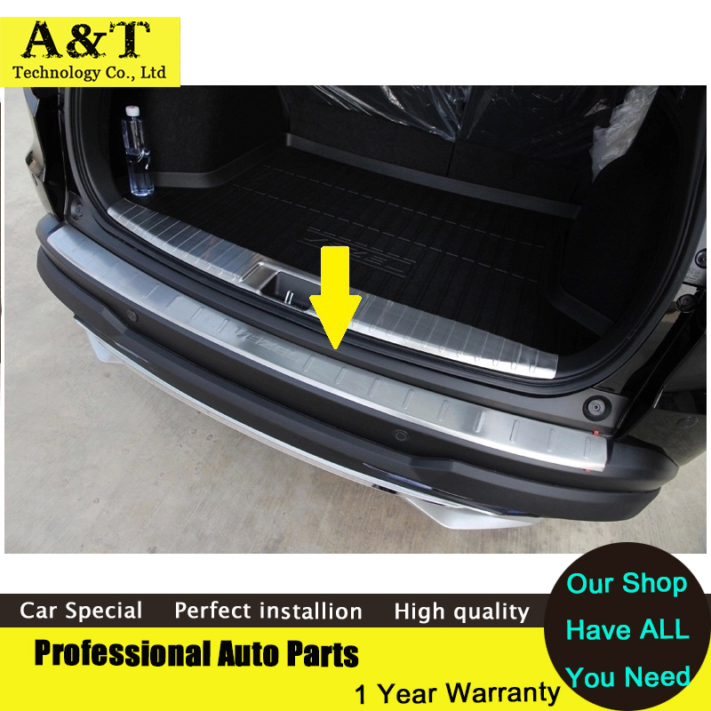 A&amp;T car styling Stainless Steel Rear Bumper Sill Protector For 2014 2015 Honda Vezel  Rear rear fender Guard<br><br>Aliexpress