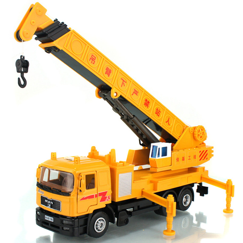 Top wholesale Crane Telescopic boom Children gift model toy Free Shipping(China (Mainland))