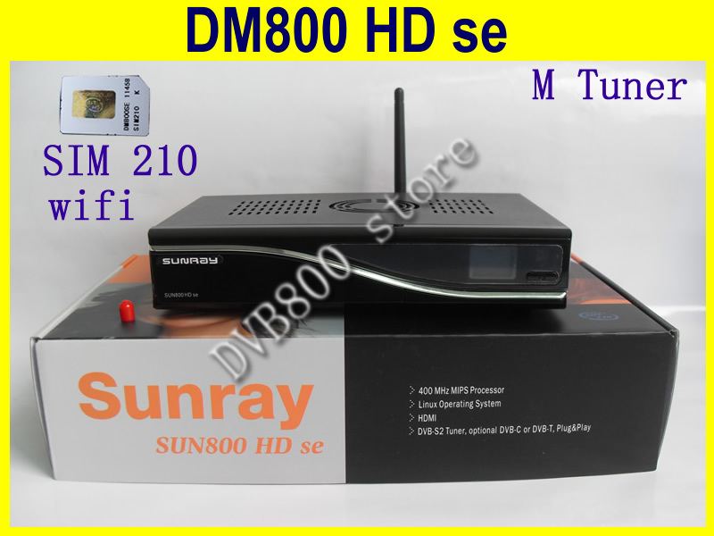 sim210 card D11 version sunray 800 SE wifi SE 800se satellite receiver 800 hd SE Ex USB M tuner(China (Mainland))