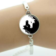 Buy TAFREE Brand Yin Yang Horse bracelet Jewelry valentine's day gifts glass gem animal charm bracelets men women fashion B118 for $1.19 in AliExpress store