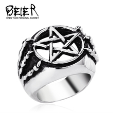 STAINLESS Steel Gothic Five Star CLaw Ring Man cheap exclusive Sale item WHOLESALE Free Shipping TG0042