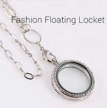 1 PCS Creative Ladys Living Memory Locket Crystal Floating Charms Pendent For Necklace(China (Mainland))
