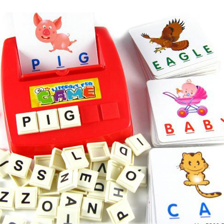 New Children's Educational Toys Spelling English Game Platter Card Picture Flashcards Learn English Drop shipping Toy-015272(China (Mainland))
