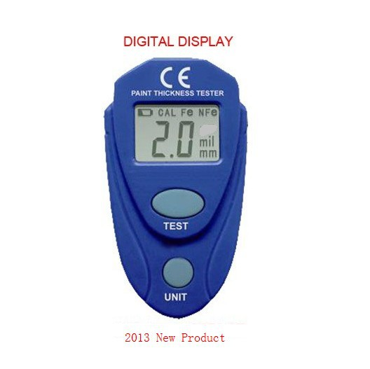New Product Digital LCD Coating Thickness Gauge Car Paint Thickness Tester Paint Thickness Meter DIY Instrument 0-80mil 0.1MM(China (Mainland))