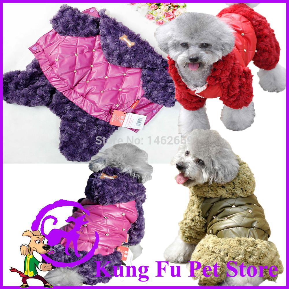 2015 New Pet Winter Dog Jumpsuit Rose Fleece Cotton-Padded Clothes New Thickening Dog Jumpsuit Of Dog Clothes For Dog Cat P058(China (Mainland))