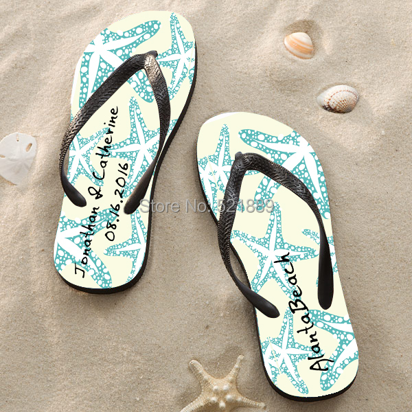 beach wedding flip flops for guests create my own flip flops