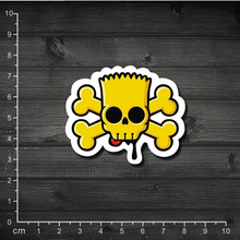 Single Skull Simpson spoof tide notebook stickers affixed to cartons stickers Trolley(China (Mainland))