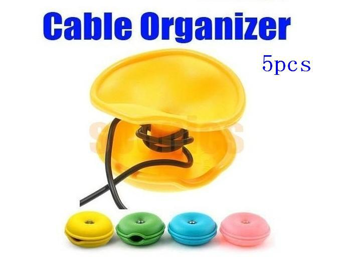 Hot Turtle Cable Cord Wire Organizer Bobbin Winder Wrap For iPod MP3 Laptop PC 5pcs/lot Free Shipping + Drop Shipping(China (Mainland))