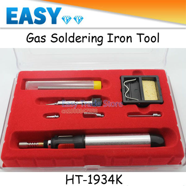gas soldering tool ht 1934k pen gas soldering iron kit free shipping in elect. Black Bedroom Furniture Sets. Home Design Ideas