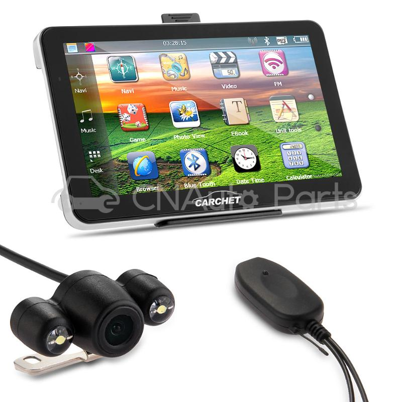 Car 7 Inch GPS Navigation Bluetooth AV-IN+America Map+Wireless Reverse Camera<br>