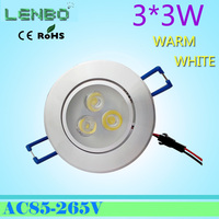 Free shipping led down light Aluminum materail AC85-265v  celing light for outdorr indoor  recessed led downlight