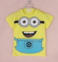 1pcs lot 2015 despicable me 2 minion boys clothes girls nova shirts child Spring hoodies Tops