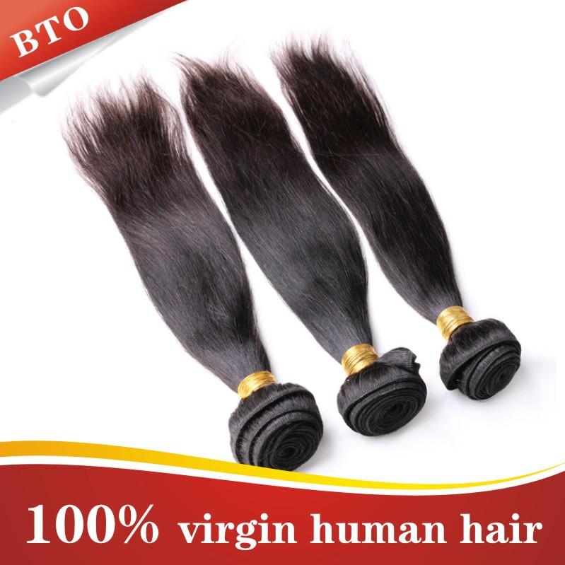 Perfect New Style Ms Lula Hair Products Peruvian Virgin Hair Straight 3 Bundles Best Quality Aliexpress Hair Natural Black Hair(China (Mainland))