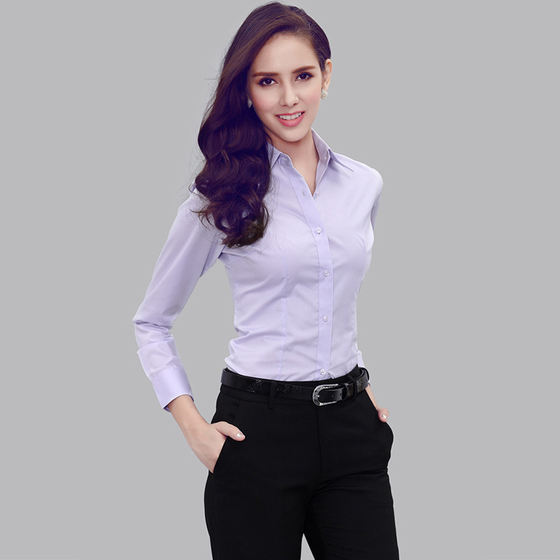 Model Novelty Formal Women Shirts Long Sleeve For Las White Blouse Work