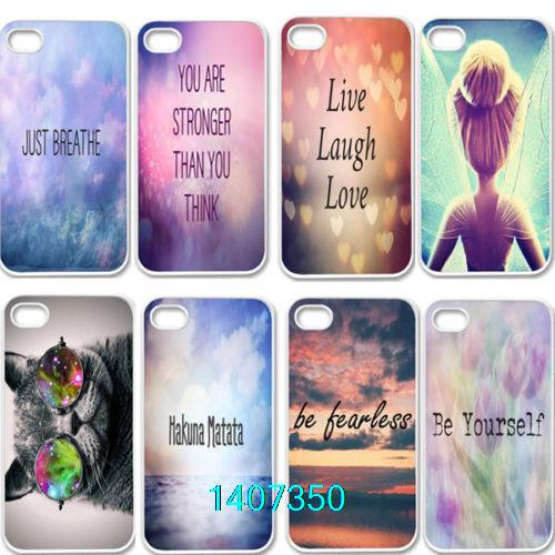 XDF High quatity Inspirational Quote Life Lover Plastic Back Cover Case iPhone 4 4s 5 5s 5c - shenzhen TOP10 case Technology Co. Ltd store
