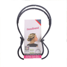 1PC New Elegance Diy Hair Tools Maker Double Hair Bands Headbands For Women Magica Style Hairbands Hair Accessories For Girls(China (Mainland))