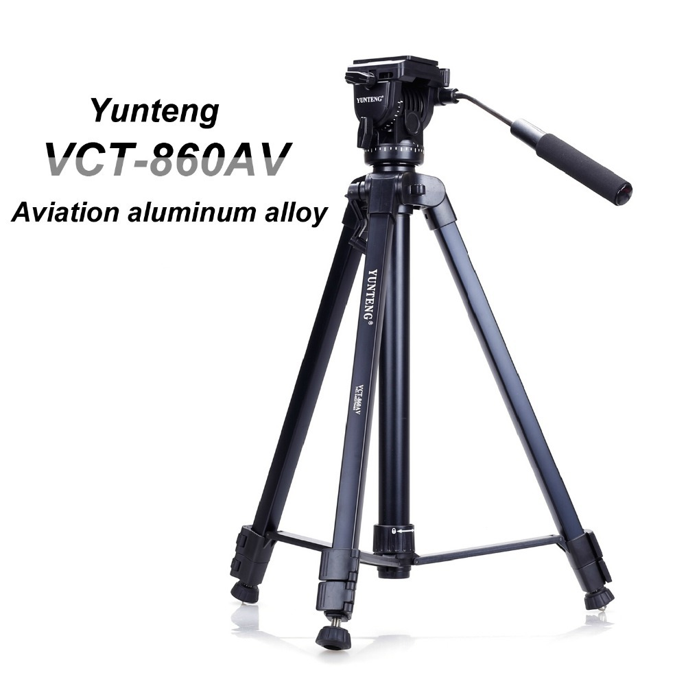 New Professional Yunteng VCT860 Aluminum Tripod For Digital Camera SLR With 3D Head Portable Tripod Bag 3 Sections Free ship(China (Mainland))
