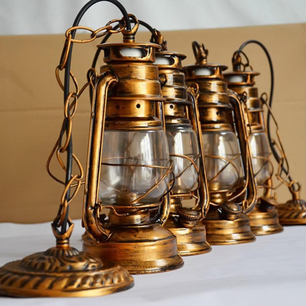 250mm-160mm-Vintage-nostalgic-lantern-kerosene-lamp-pendant-light-bar-entranceway-lamp-E27-lamp-base-antique