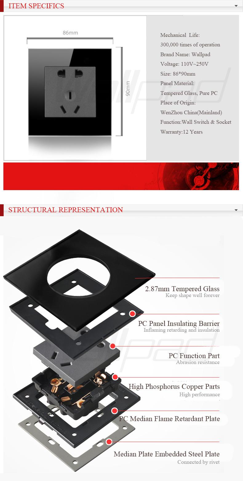 Купить Wallpad Умный Дом Вентилятор Выключатель Черный Кристал Гласс Вентилятор Скорость Вращения Управления Настенный Выключатель, бесплатная Доставка