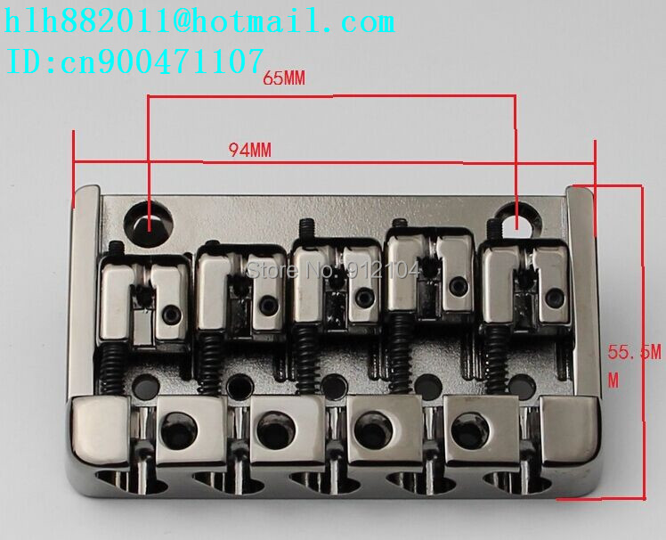 free shipping new 5 strings electric bass guitar bridge in chrome  L16<br><br>Aliexpress