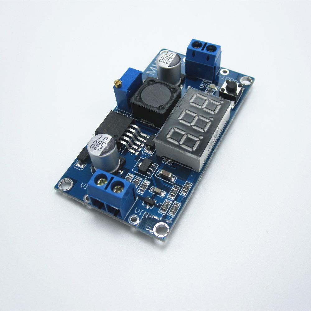 Гаджет  Cheap LM2596 DC 4.0~40 to 1.3-37V Adjustable Step-Down Power Module + LED Voltmeter  None Электронные компоненты и материалы