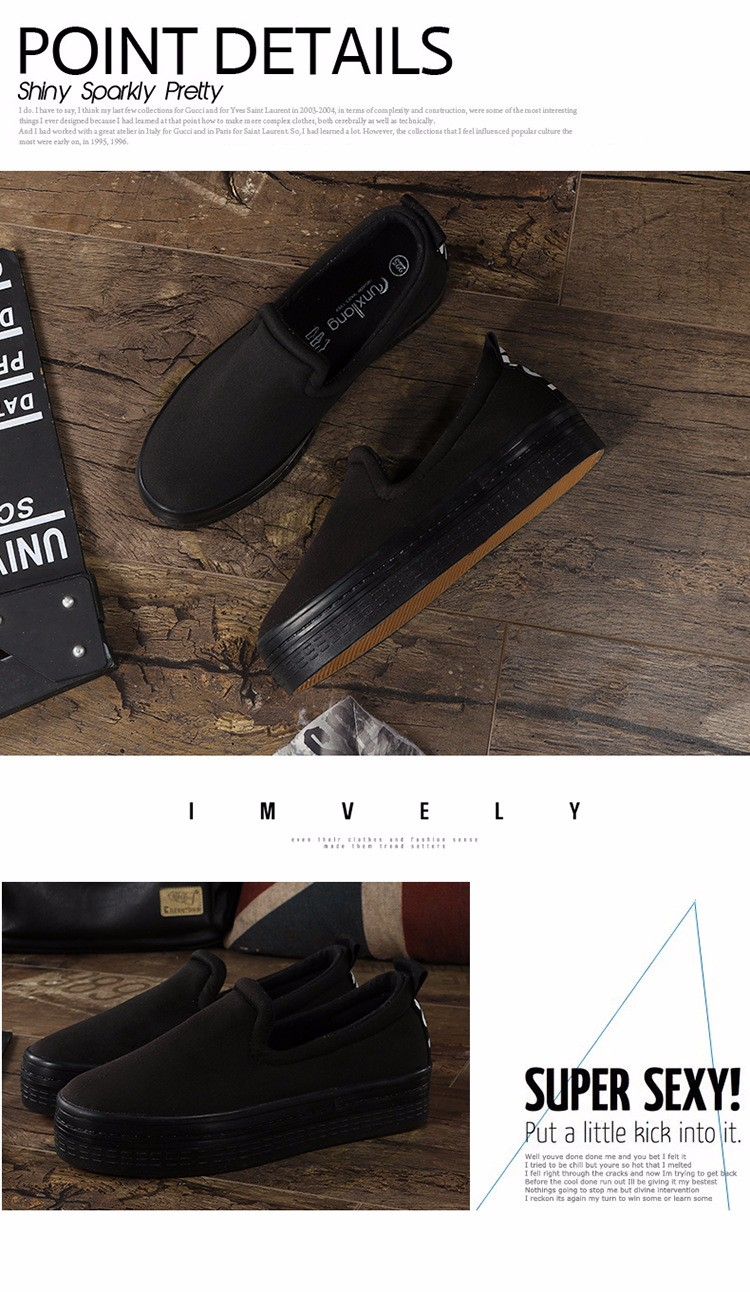 2016 New Spring Fall Denim Canvas Flat Women Loafers Shoes Platform A Pedal Lazy Casual Single Shoes For Female Red Black M3.5