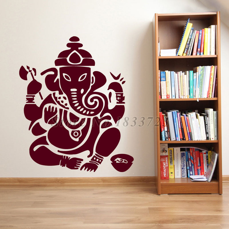 Ganesha Lord Wall Stickers Modern Style Bedroom Home Decor Indian Elephant Wall Art Murals