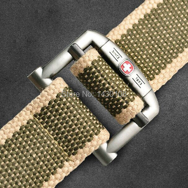 hot 2015 fashion casual famous brand Men's canvas belt luxury Designer sport jeans Military black army green belts for men 120cm(China (Mainland))