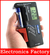 New Universal LCD Digital Battery Tester 1.5v AA /AAA /C/ D 9V Load Tester Button Cell Checker Bt-168d
