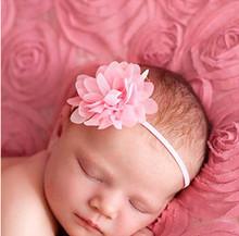 Big Sale ! 14Clr Fashion children infant kids newborn Baby girl Accessories chiffon mini flower Head bands  Hair Band Head Piece