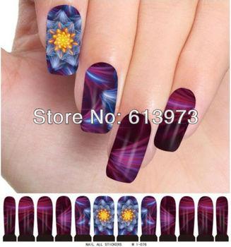 10Sheets Free Shipping Nail Stickers All Nail art Water transfer printing sticker M1-076