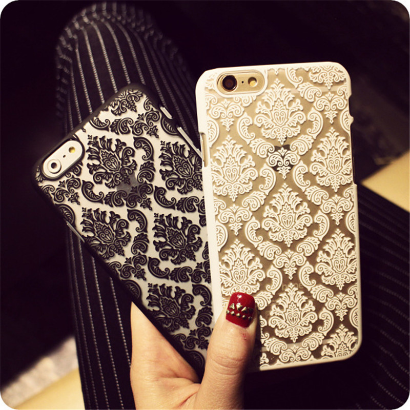 Recommend New Arrivals Phone Case Back Cover for IPhone 6 6s Cases Damask Vintage Fashion Flower Pattern Luxury 4.7 inch(China (Mainland))