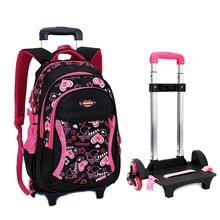 Trolley School Bag with Wheels Backpack Children Travel Bag Rolling Luggage Schoolbag for Kids Backpack Bolsas Mochilas Bagpack(China (Mainland))