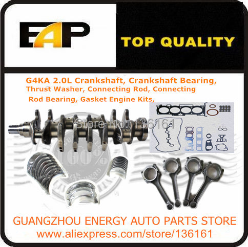 Crankshaft Bearing Connecting Rod Connecting Rod Bearing Gasket Engine Kits FOR South Korea s SONATA G4KA