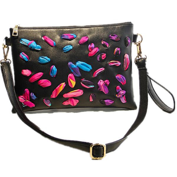 2015 favorite women bag petals distinctive personality women messenger bags(China (Mainland))