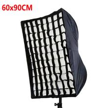 Photo Studio 60x90cm Umbrella Softbox Diffuser Reflector+Grid For Speedlite Flash Photography Soft Box Fotografia Light Box