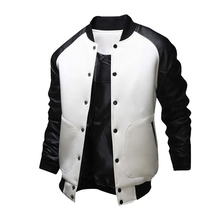 Mens American Style Varsity Baseball Letterman College University Jacket Coat Outwear Men's Winter Jacket Free shipping MD578(China (Mainland))