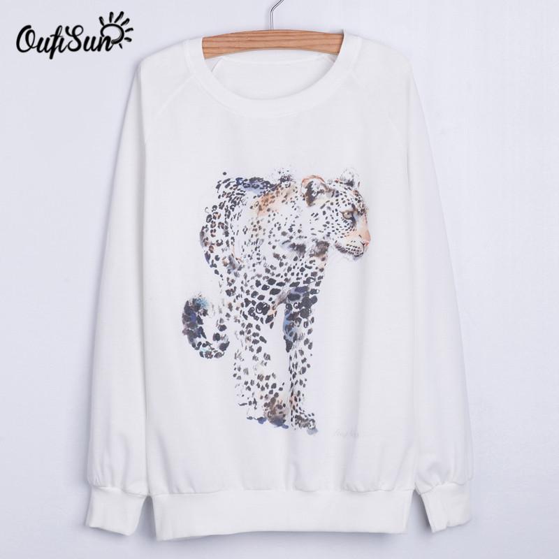 2016 autumn new hoodie, European and American style spots leopard print sweatshirt, trendy street sweatshirt(China (Mainland))