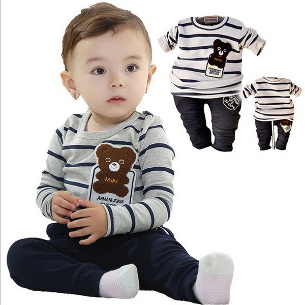 New Winter Kids Clothes Cotton Clothing Sets Kids Pants + Top Baby Boy Clothes Children Tracksuit Casual Suits Garment(China (Mainland))