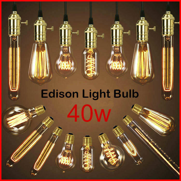 Лампа накаливания E27 Edison Antique Industrial Style Lamp Light Bulb 2015 40W 220v/240v E27 st64 edison bulb led e27 love dimmable vintage filament retro lamp light fixture 220v 4w lighting 2300k amber gold clear glass