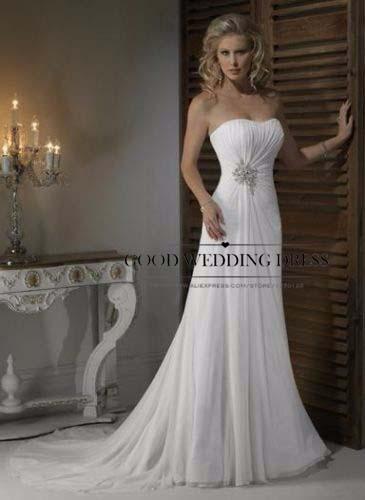 Buy vestido de noiva 2015 hot sale new for Robes de mariage designer amazon