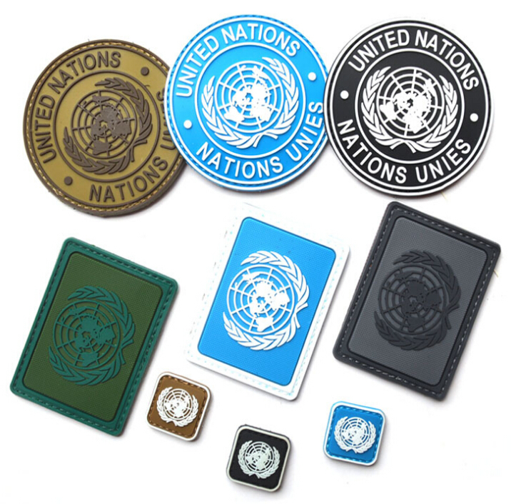Military Tactical Patch 3D Velcro United Nations Nations Unies Patches Military Armband U.N. Badge 9pcs(China (Mainland))