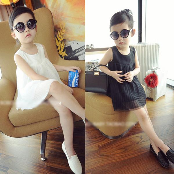 Stylish Kids Baby Girls Dress Sleeveles Double Layer Princess Tutu Summer Solid Dresses<br><br>Aliexpress