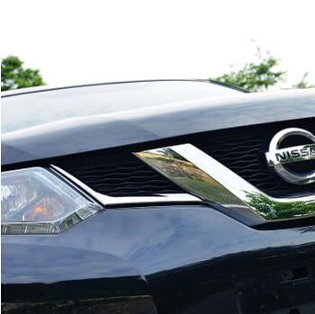 Hot ABS chrome Front grille decoration cover trim stickers case for nissan x-trail x trail xtrail car 2014 2015 accessories