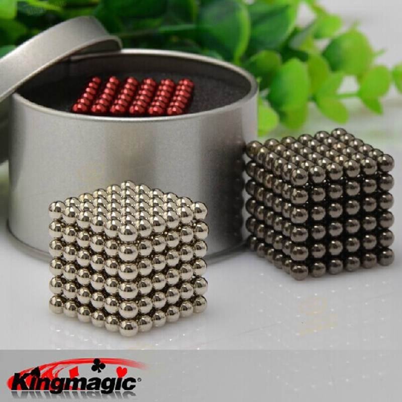 5mm Size 216 Magnetic Balls N35 Magic Toy Neo Puzzle Magnet Cube Block Cubo Magico Education Toys Magic Props Metal Box+Bag+Card(China (Mainland))