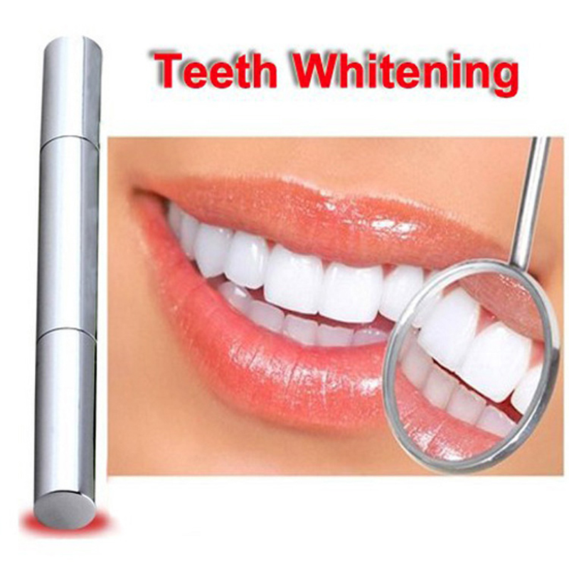 2pcs Free Shipping Popular White Teeth Whitening Pen Tooth Gel Whitener Bleach Remove Stains Dental Care Teeth Cleaning Tools(China (Mainland))